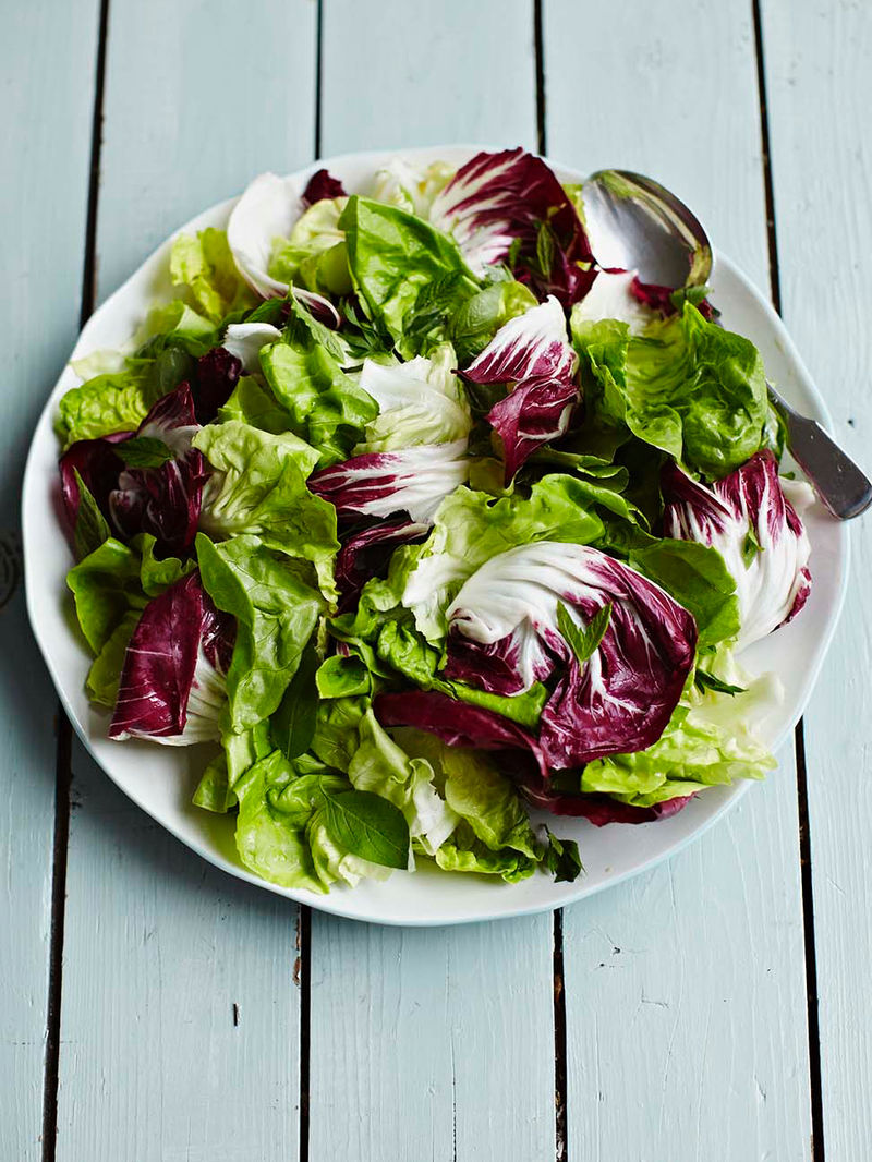 Green Salad With Lemon Dressing Food Revolution Jamie Oliver