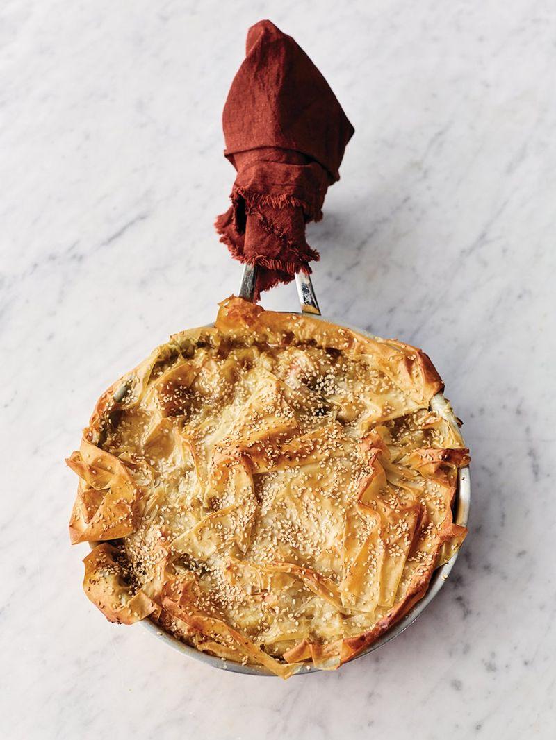 Summer veg blanket pie