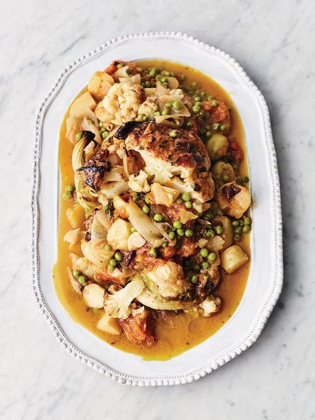 Greek-inspired cauliflower stew