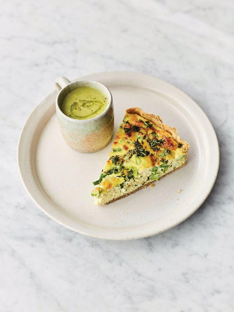 Asparagus quiche & soup