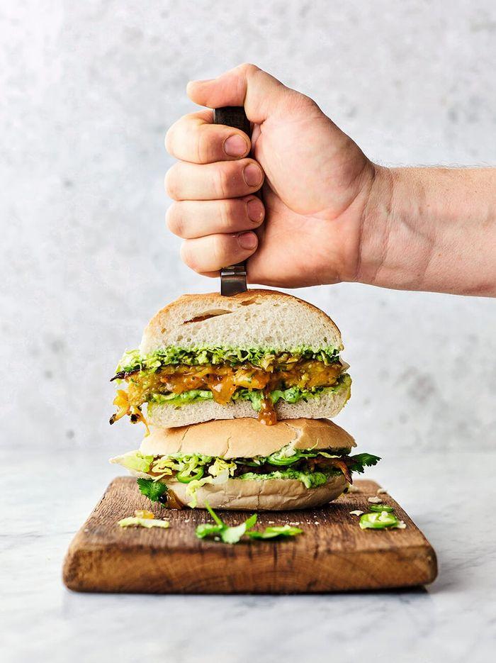 Brilliant bhaji burger