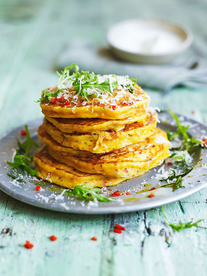 Leftover squash pancakes