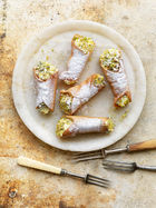 Lemon & pistachio cannoli