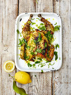Spiced turmeric & lemon BBQ chicken