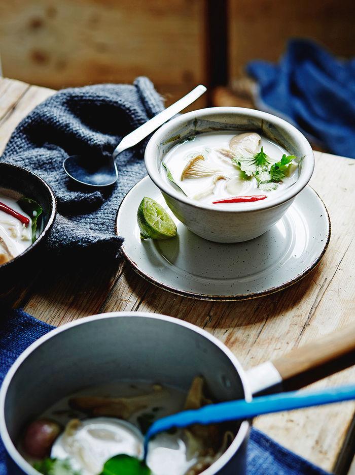Turkey & coconut milk soup