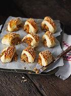 Squash, Stilton & walnut rolls