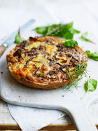 Sweet potato & blue cheese frittata