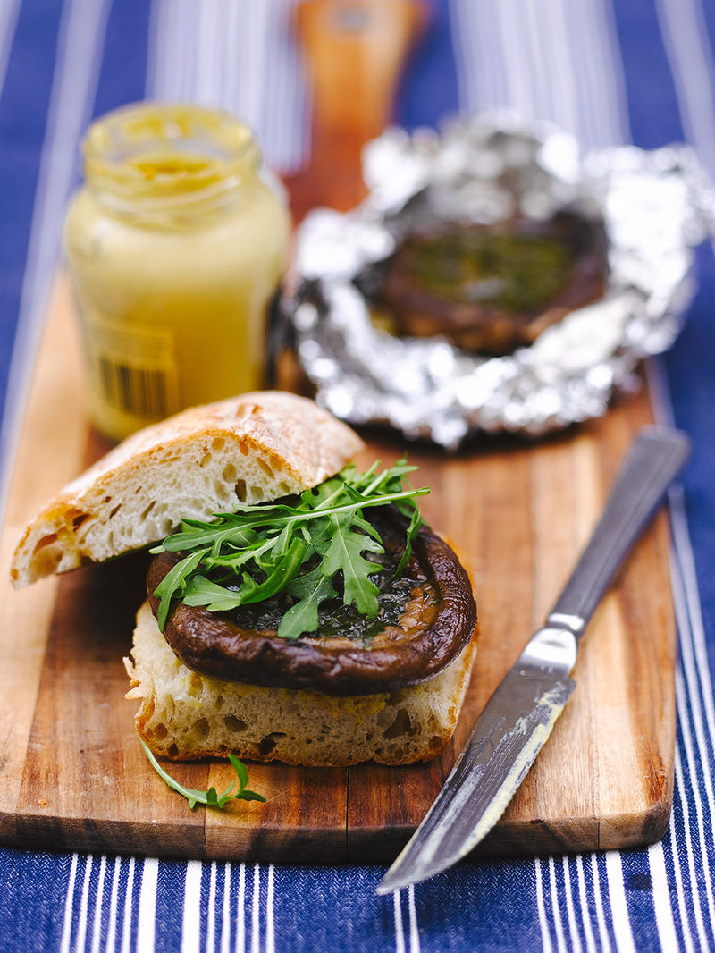 Garlic Mushroom Burgers Vegetable Recipes Jamie Oliver