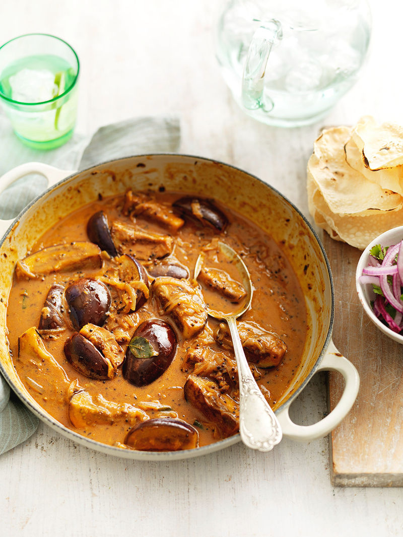 Spiced aubergine & coconut curry