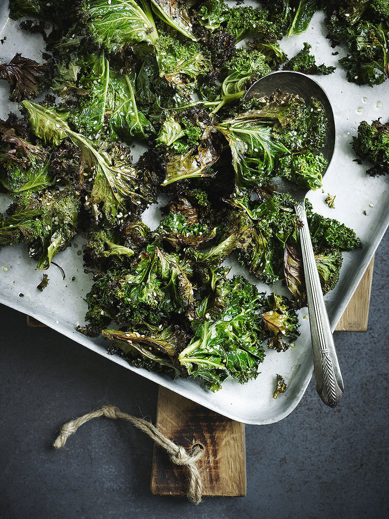Sesame-roasted kale