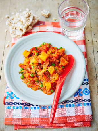 Helen's sweet potato & red pepper stew