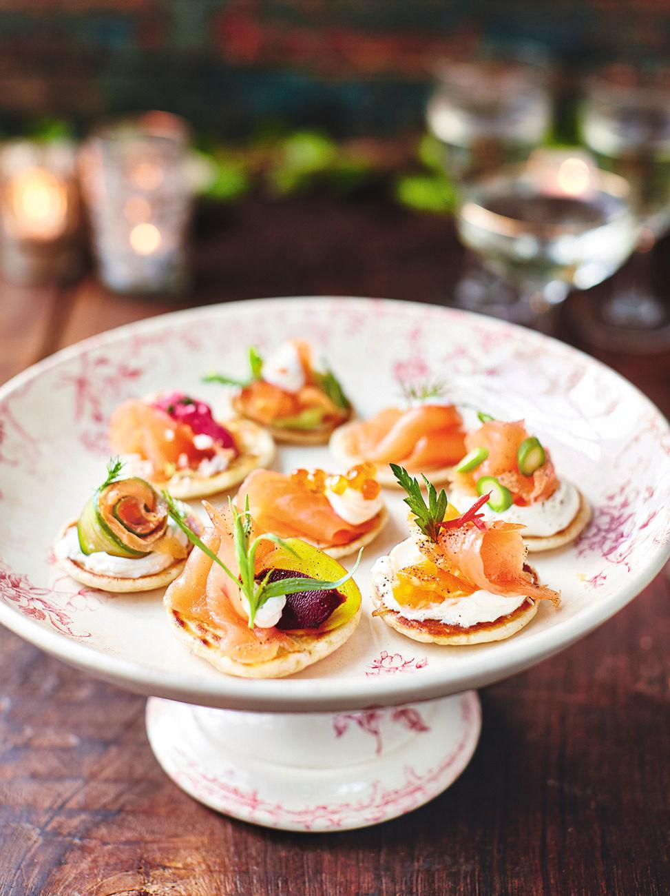 Smoked Salmon Blinis Recipe Jamie Oliver Recipes