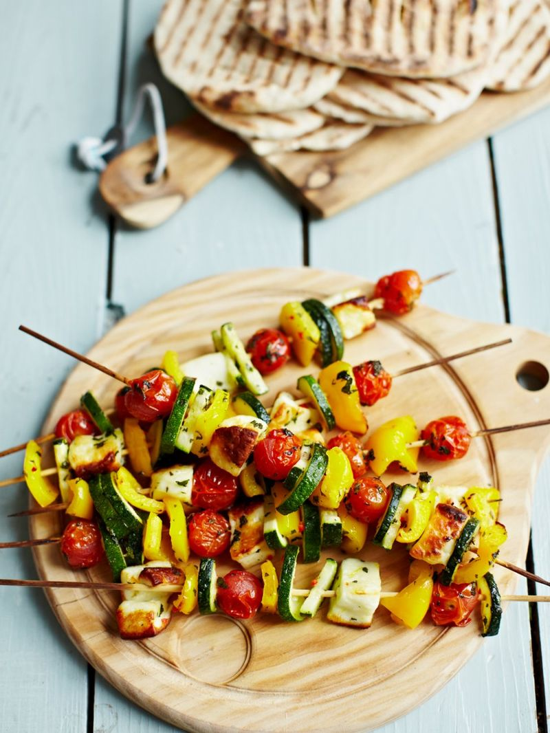 Greek vegetable kebabs