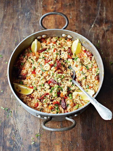 Chicken And Chorizo Paella Recipe Jamie Oliver Recipes
