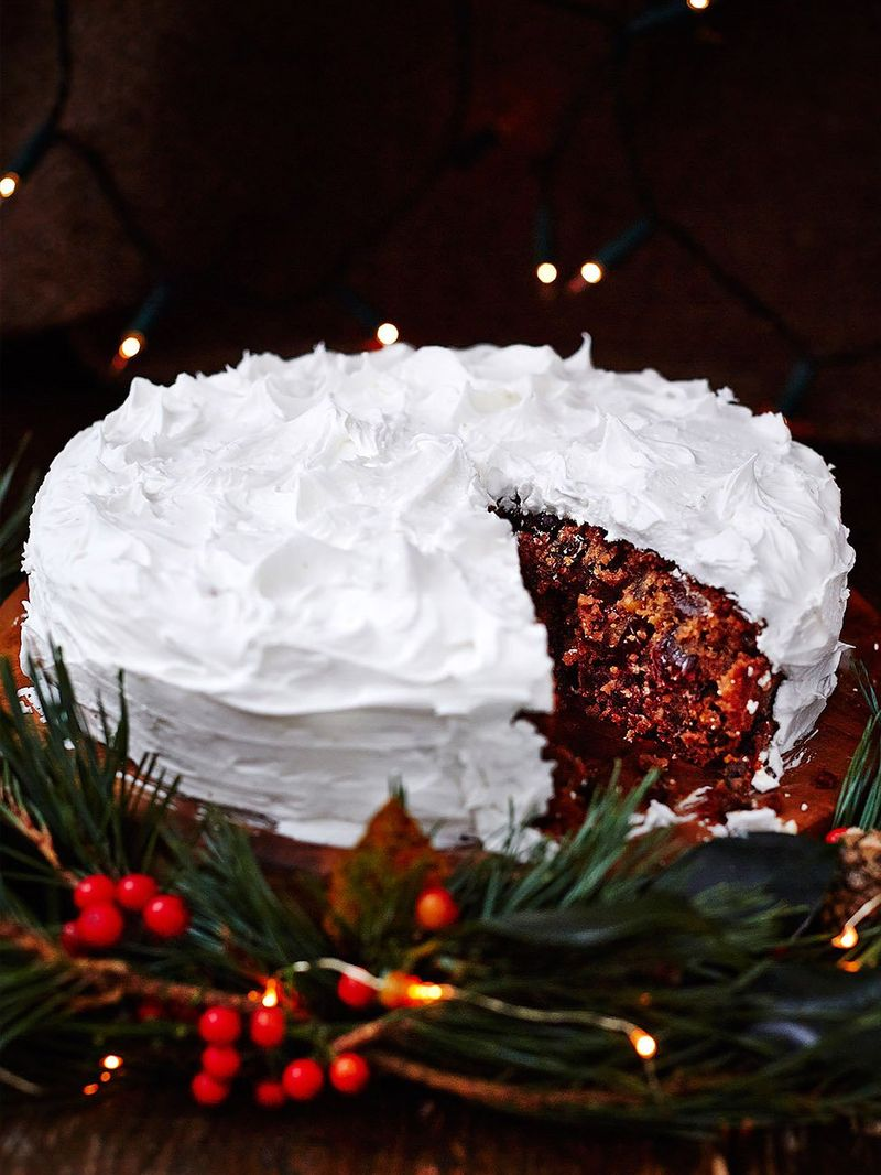 Gluten-free apple Christmas cake