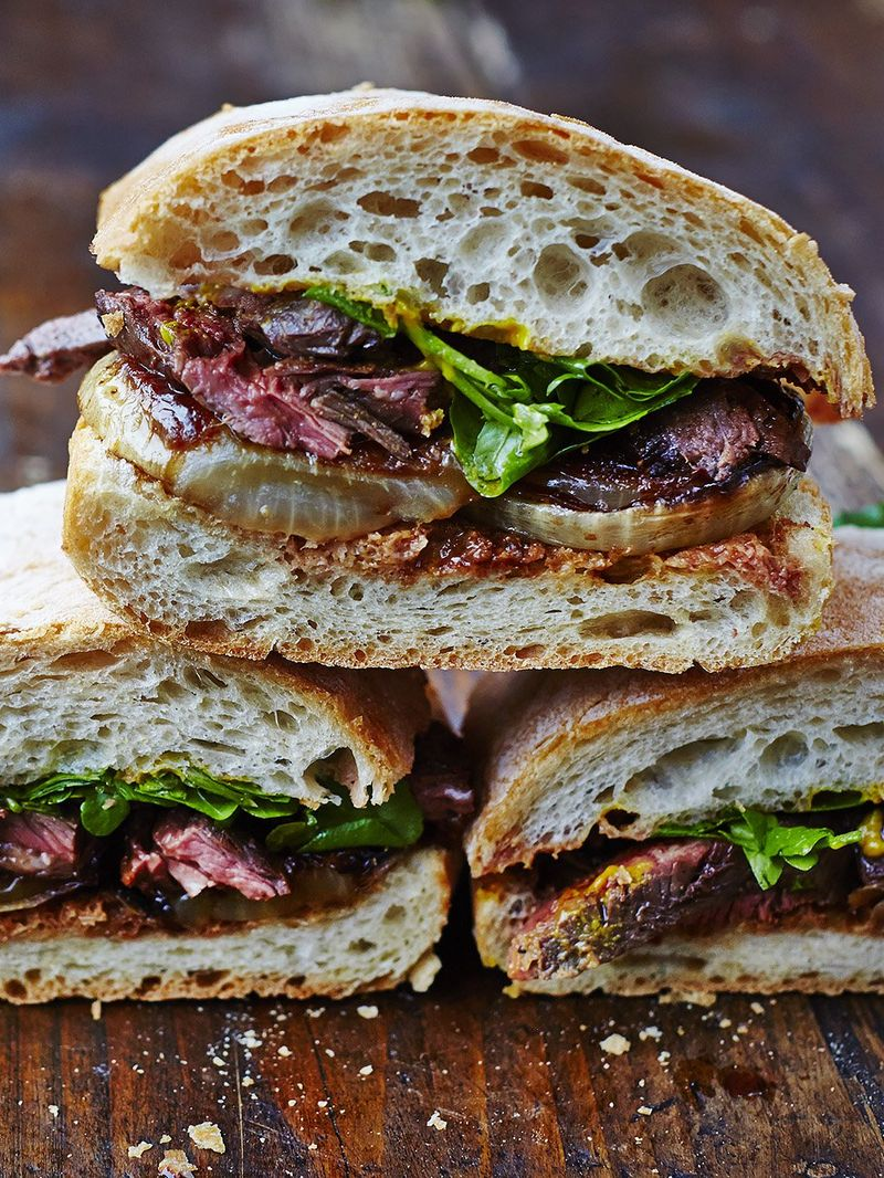 Next Level Steak Sandwich Recipe Jamie Oliver Recipes