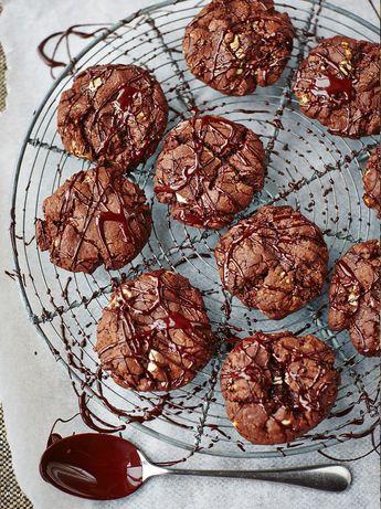 Devil's double choc malt cookies