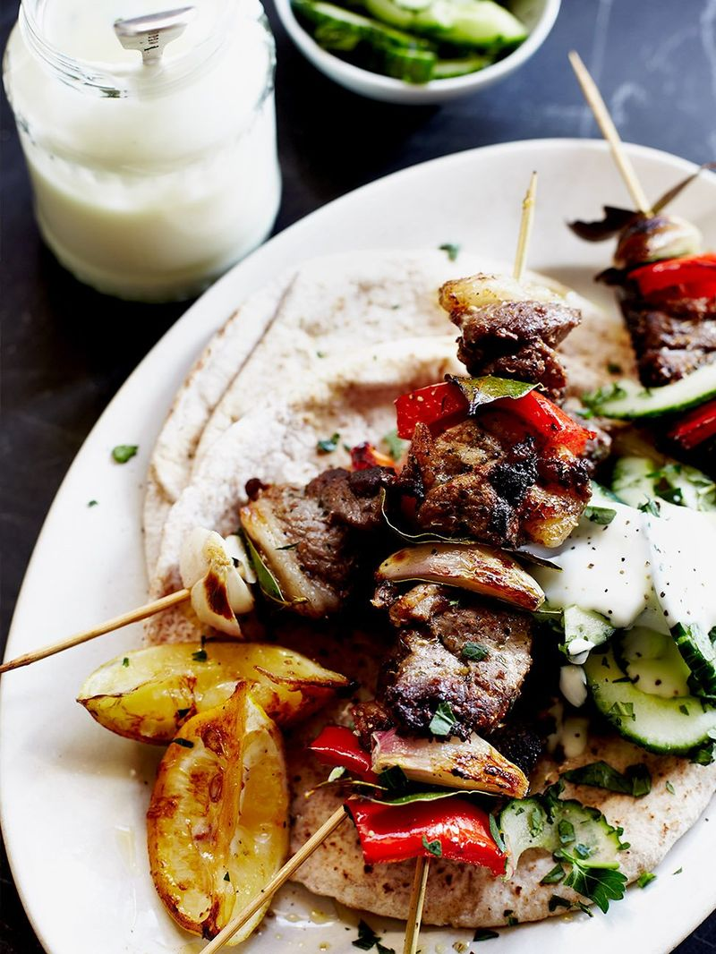 Quick Lamb Kebabs Lamb Recipes Jamie Oliver Recipes