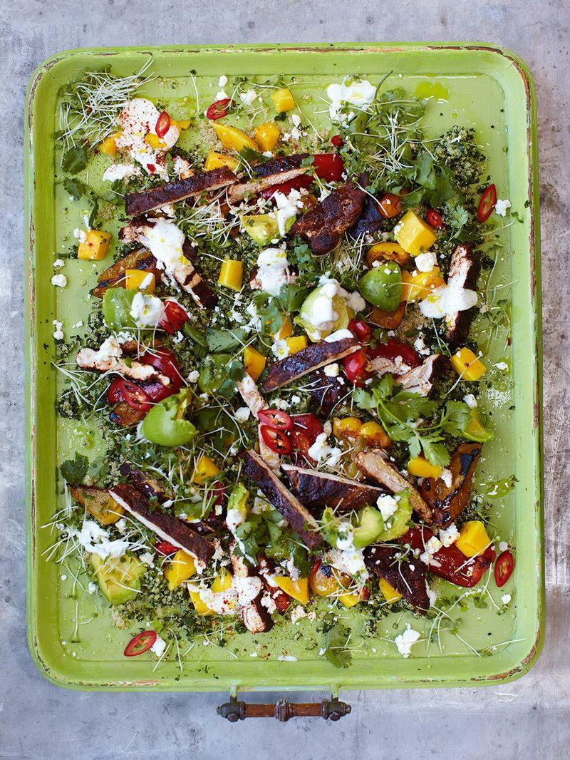 Chicken Quinoa Salad Chicken Recipes Jamie Oliver