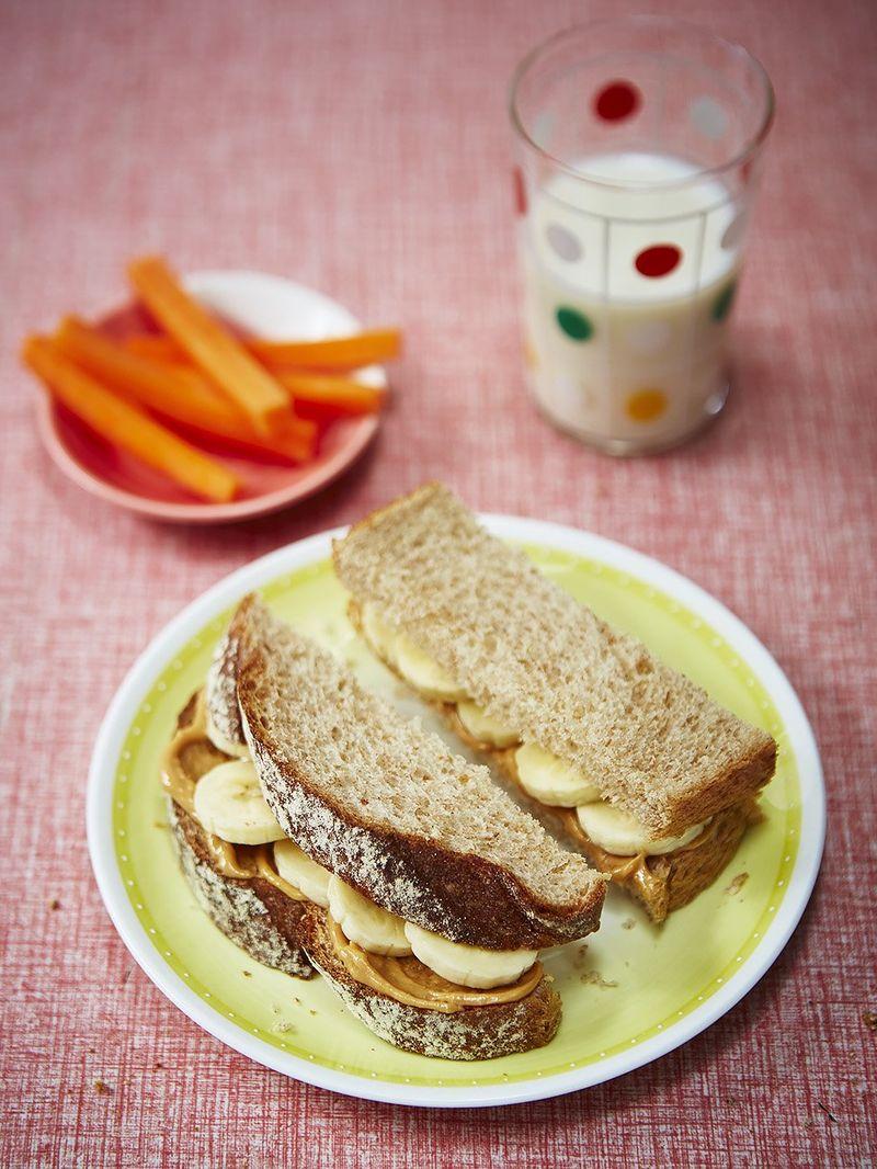Helen's peanut butter & banana sandwiches