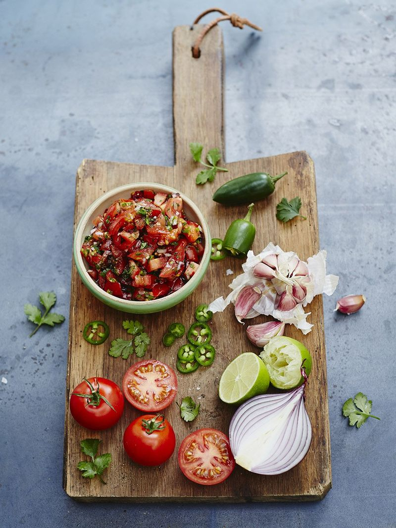 Tomato Salsa Vegetarian Recipes Jamie Oliver