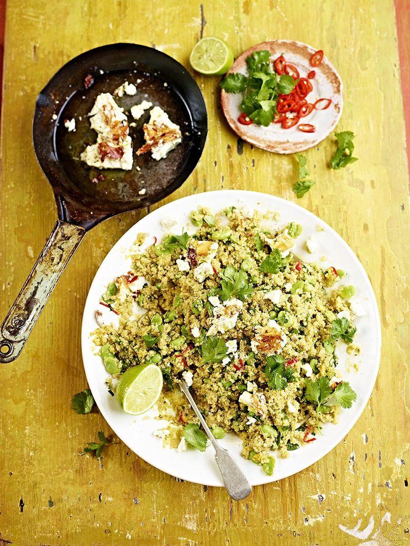 Feta Broad Bean And Quinoa Salad Vegetable Recipes Jamie Oliver