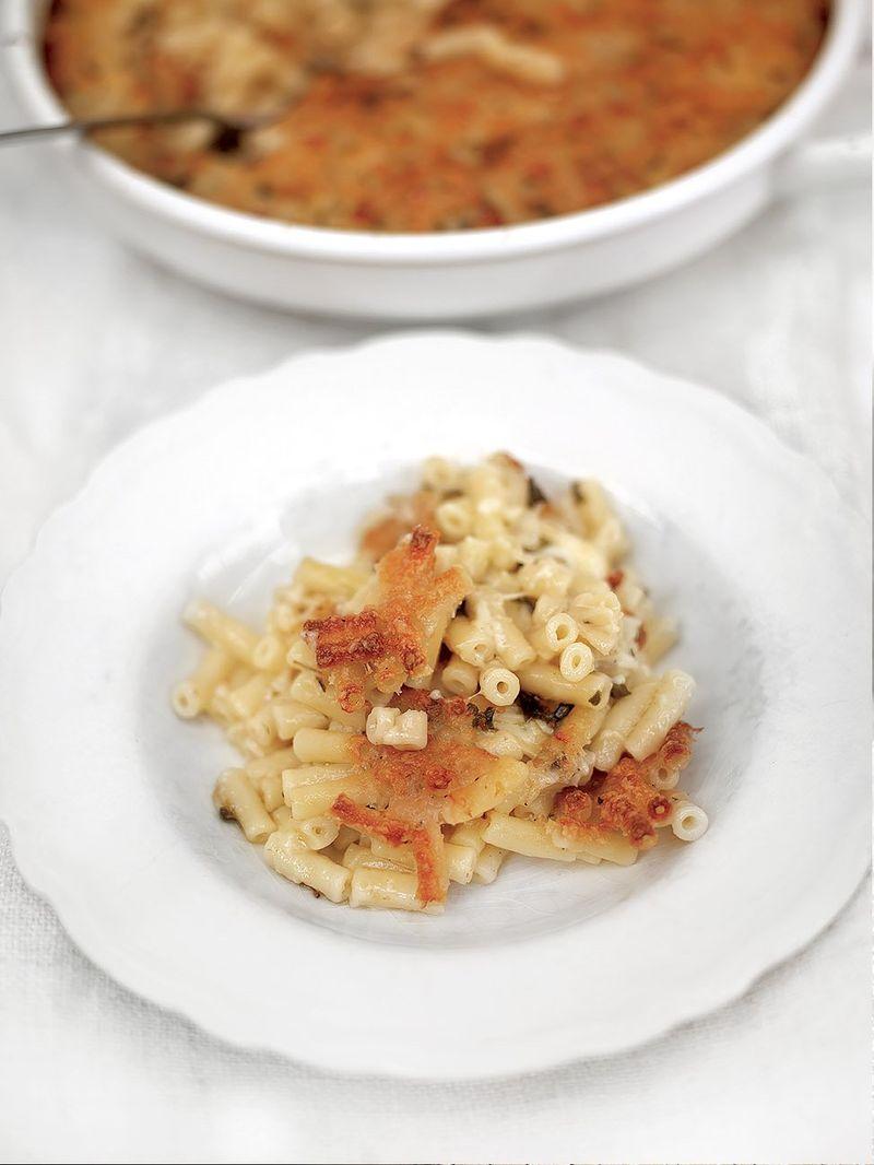 Maccheroncini-käse-auflauf