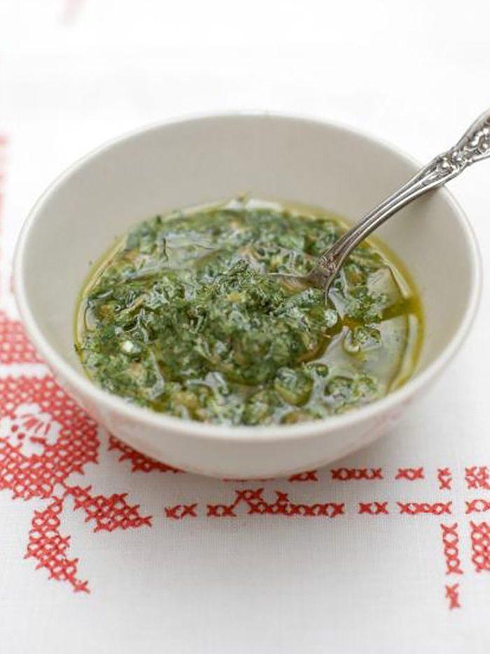 Mixed herb salsa verde