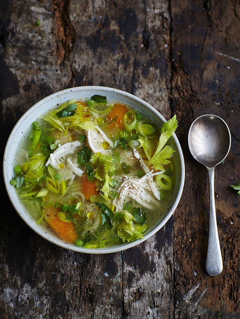 Chicken Vegetable Soup Chicken Recipes Jamie Oliver Recipes