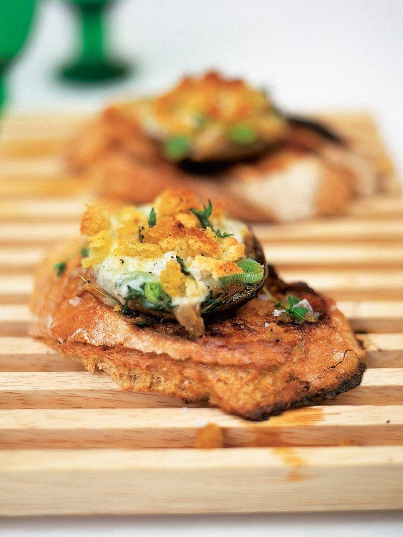 Baked mushrooms