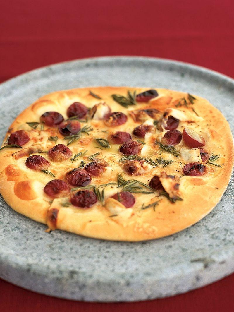 Red grape pizza | Bread Recipes | Jamie Oliver Recipes