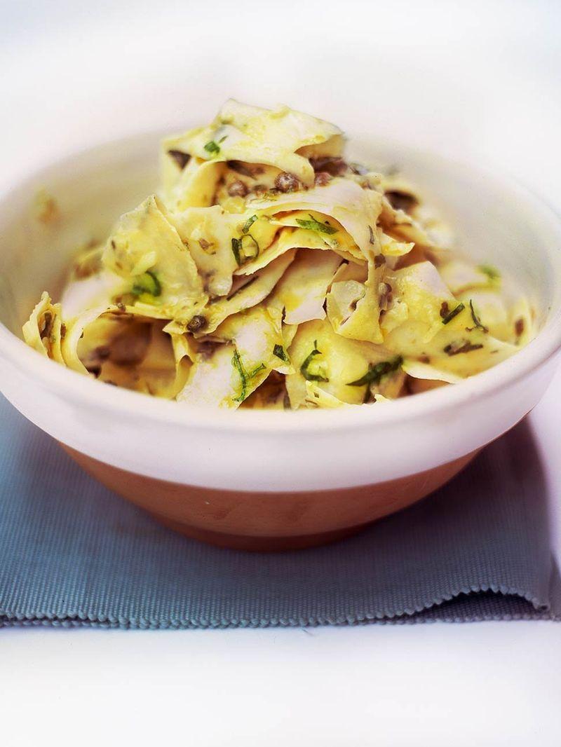 Ribbon celeriac salad