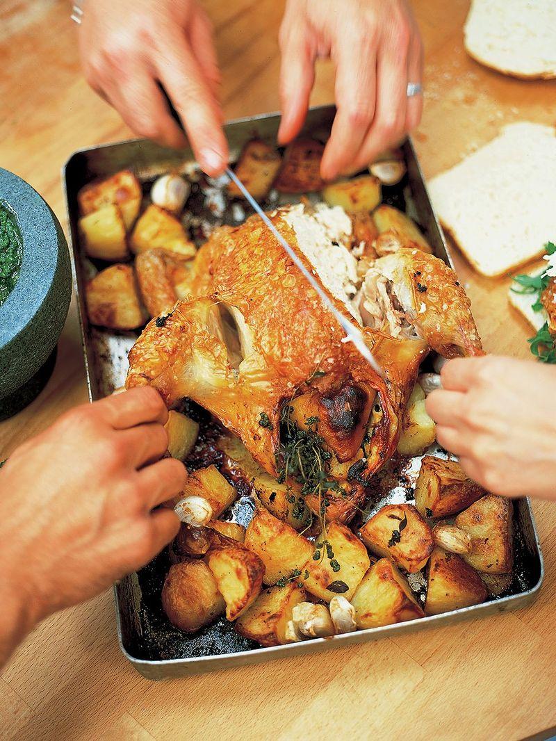 Lemon Roast Chicken Chicken Recipes Jamie Oliver Recipes
