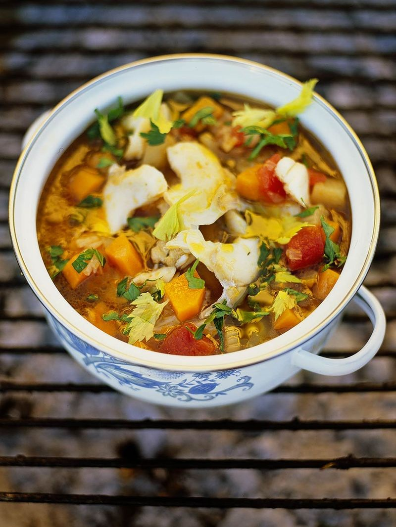 Salt Cod Soup Fish Recipes Jamie Oliver Recipes