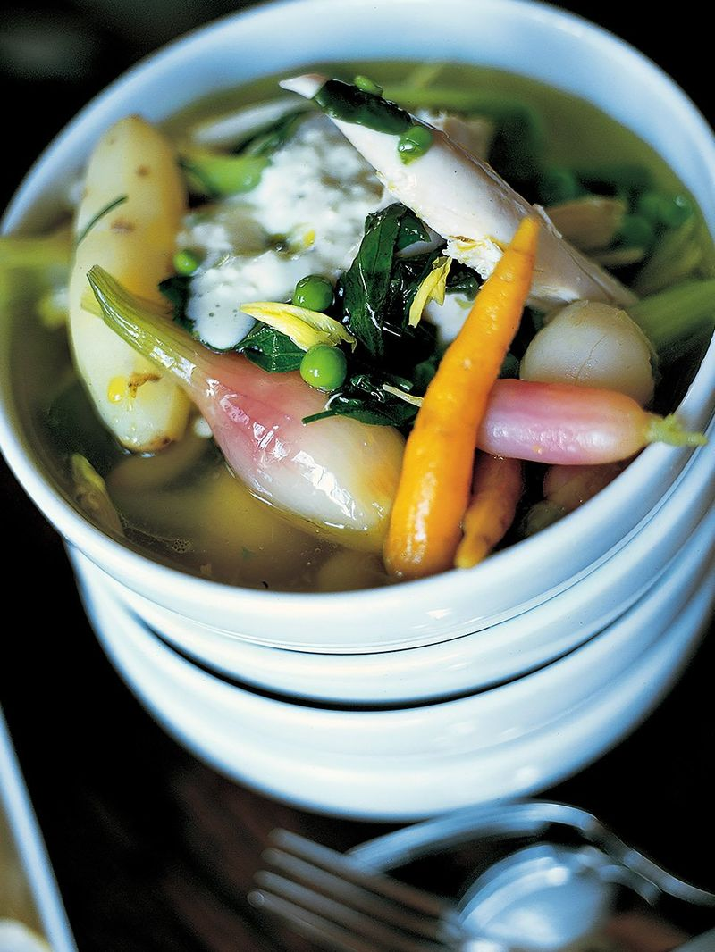 Spring poached chicken
