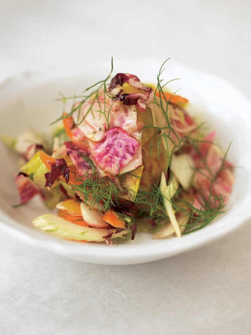Unbelievable root vegetable salad
