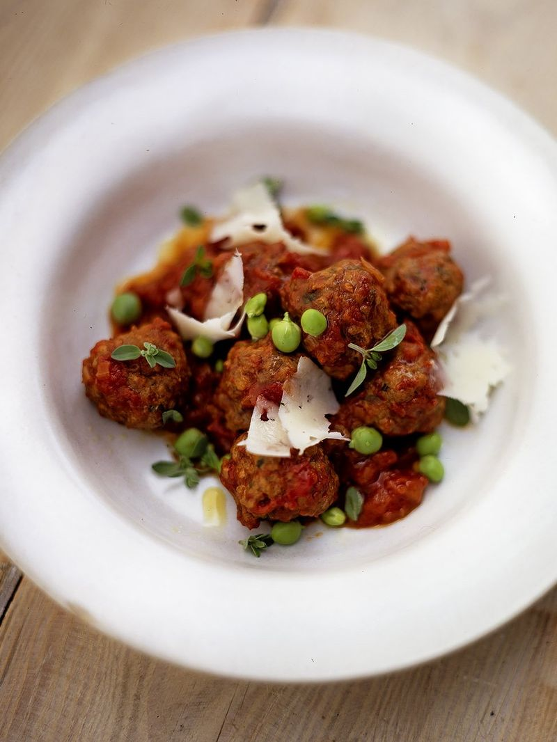 Simple Meatball Recipe Jamie Oliver Beef Recipes