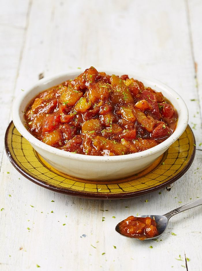 Mango and apricot pickle