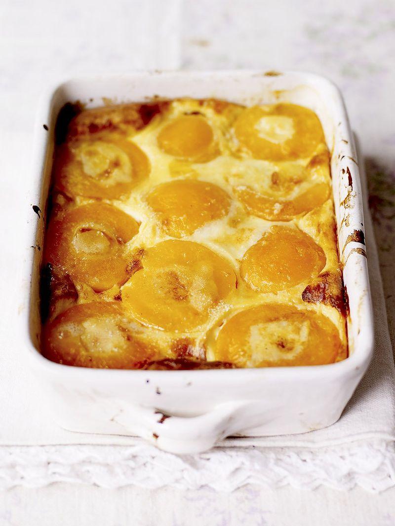 Nan's peach clafoutis