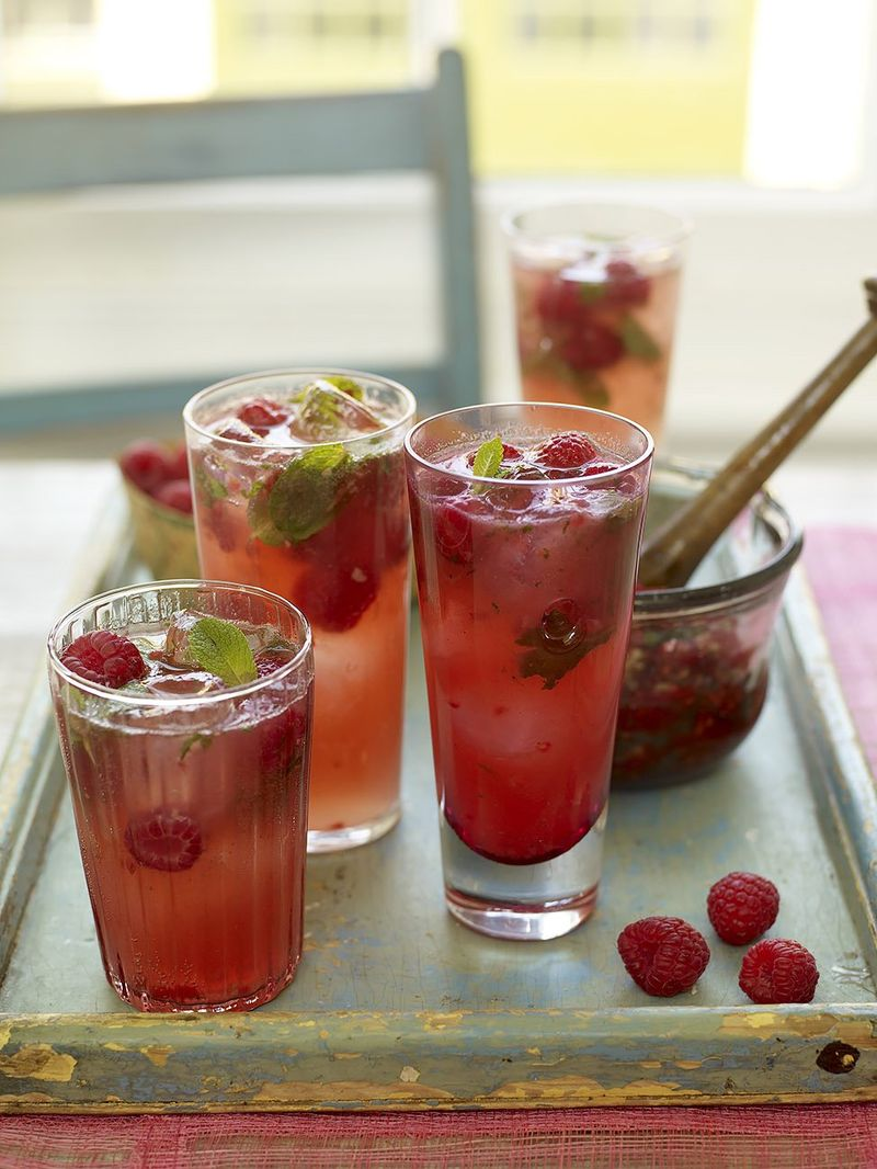 Raspberry & ginger fizz