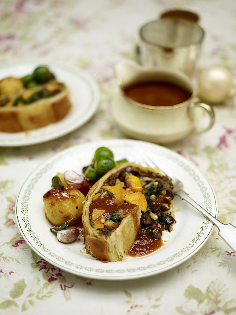 Mushroom & squash vegetarian Wellington