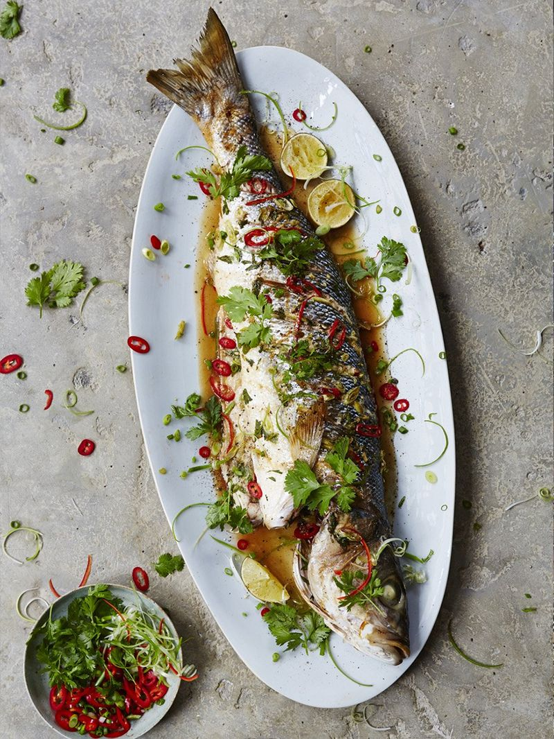 Asian Steamed Sea Bass Fish Recipes Jamie Oliver Recipes