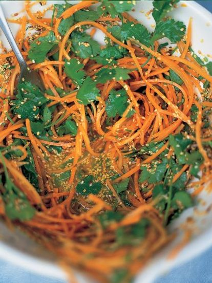 Carrot and coriander crunch salad