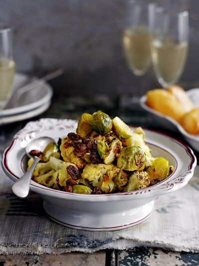 Sicilian roasted cauliflower & Brussels sprouts