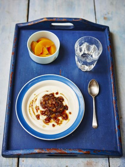 Helen's pear & prune compote with yoghurt