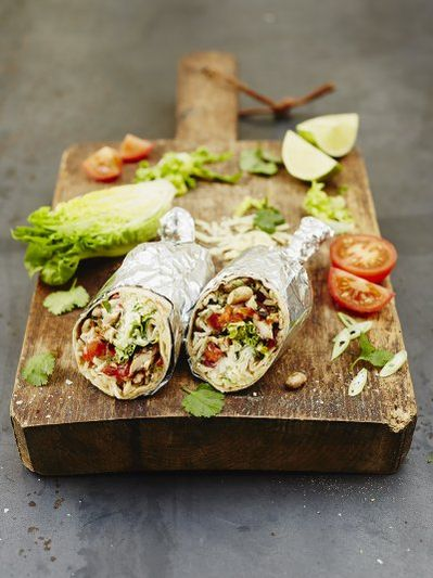 Cracking chicken burrito