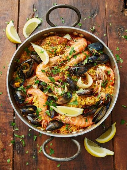 Chicken seafood paella jamie oliver recipes paella forumfinder Choice Image