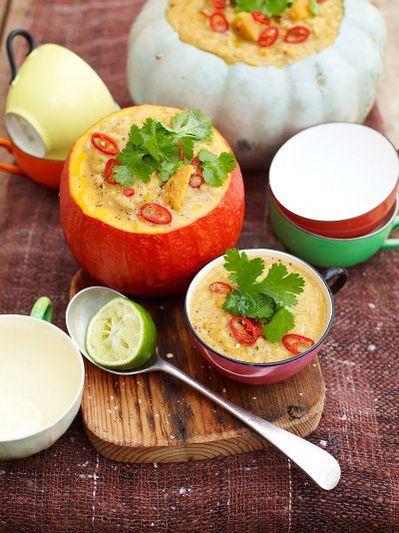 Spicy squash soup