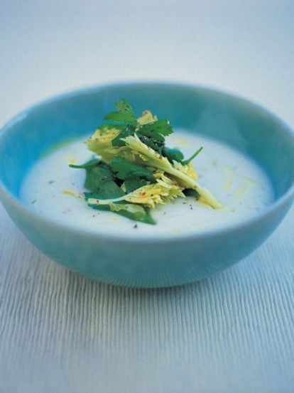 Potato, celeriac and truffle oil soup