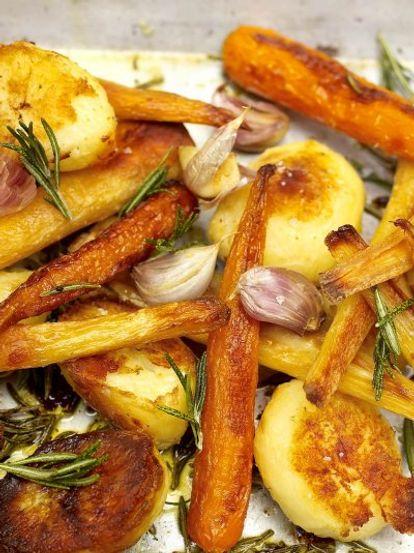 Roast Potatoes Parsnips Carrots